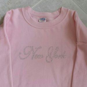 Nwot New York studded long sleeve sweatshirt